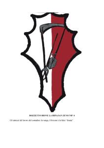 Bozzetti stemmi Rioni di Olmo 1 -4-